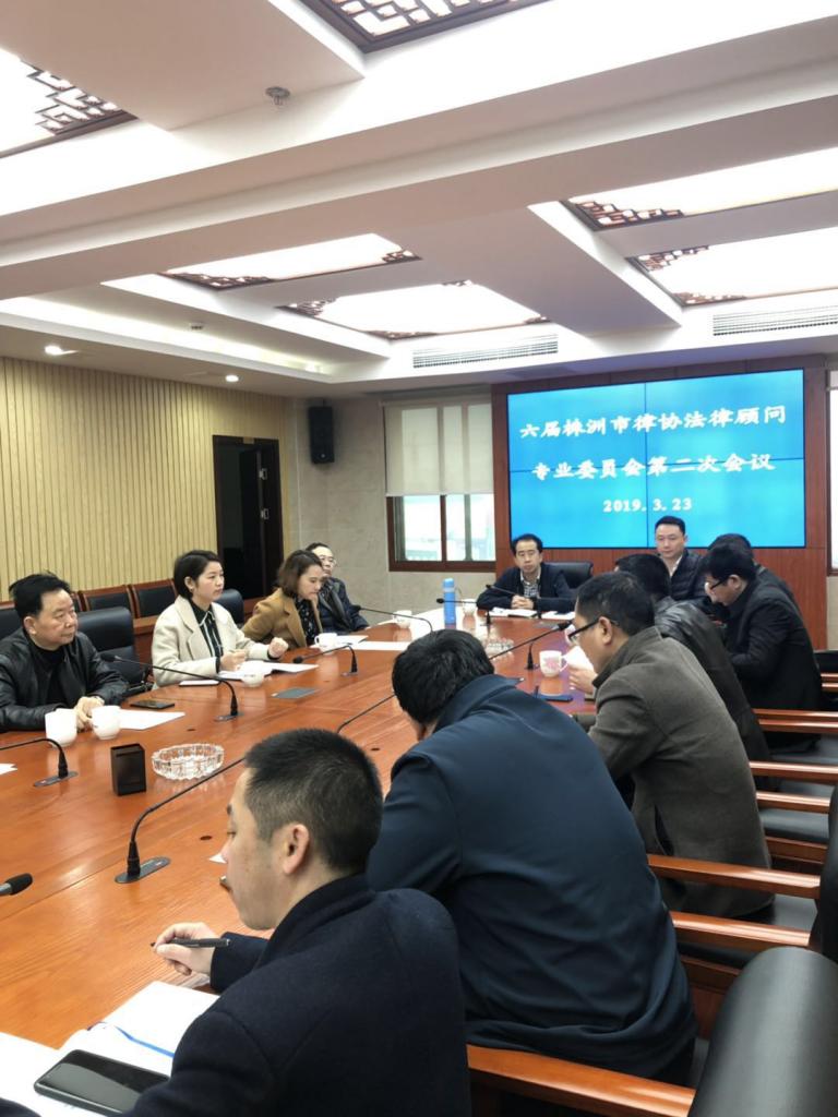 株洲市律师协会法律顾问专业委员会2019年度第一次工作会议简讯