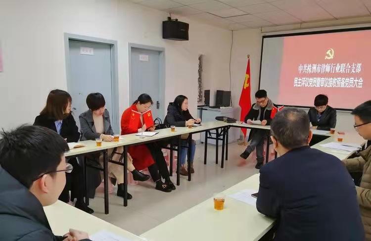 中共株洲市律师行业联合支部委员会召开2020年度组织生活会暨开展民主评议党员